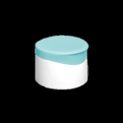 Tapa Doble Pared Italiana Blanco-Turquesa