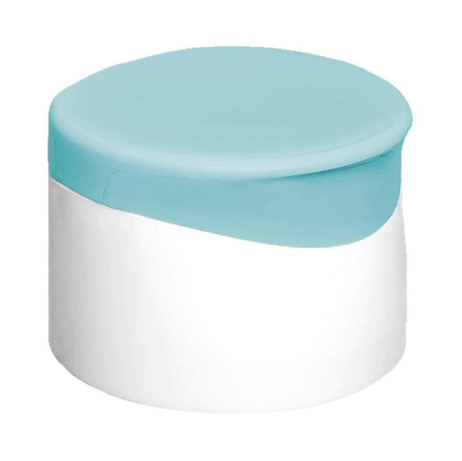 Tapa Doble Pared Italiana Blanco-Turquesa Stock